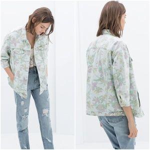 ZARA Oversized Denim Jacket:Blue, US M, L /EUR M,L